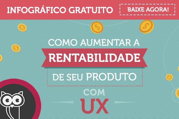 Infográfico como aumentar rentabilidade com UX